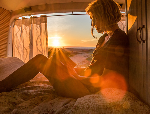 Alleine reisen als Frau im Camper