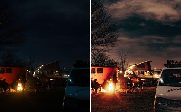 Lightroom Fitler für Nachtaufnahmen