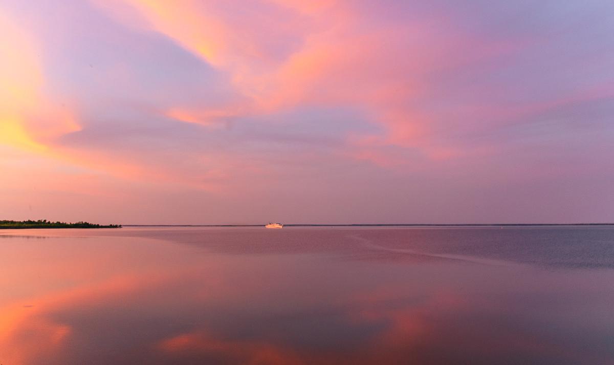 Sonnenuntergang Wolga