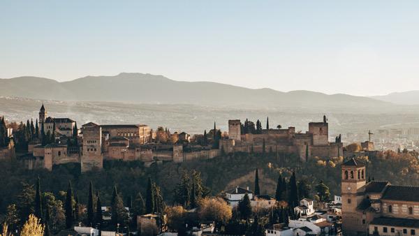 Granada Ausblick Alhambra