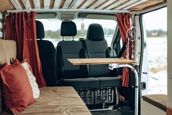 Camper Ausbau Sitzbereich